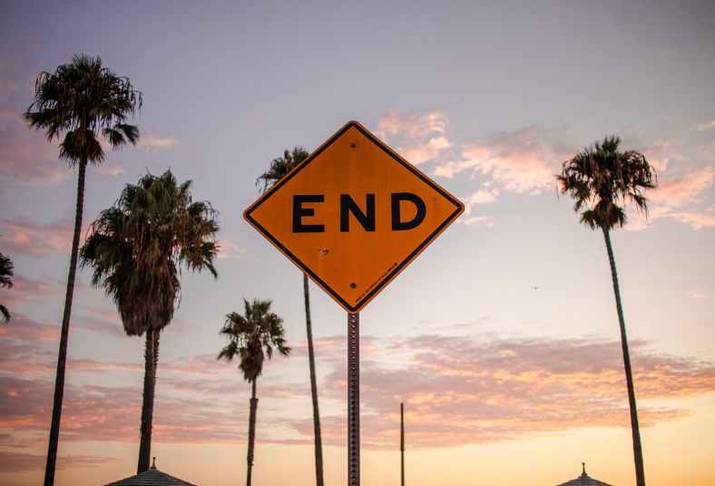 photo of end signage