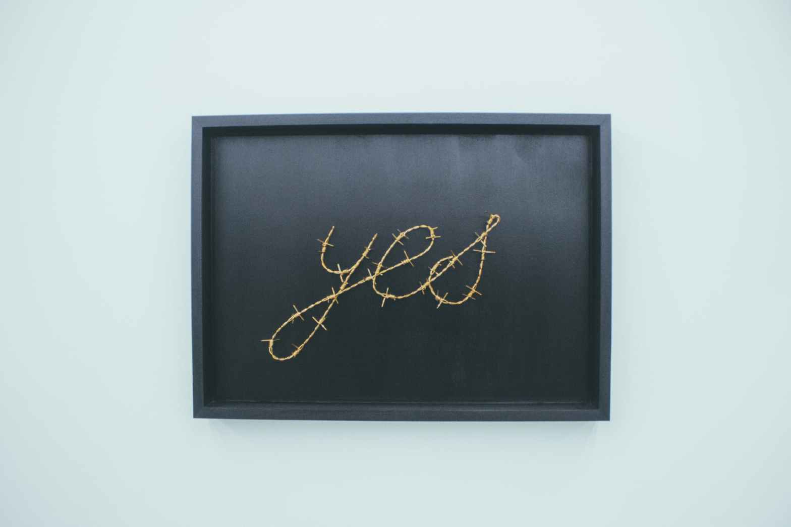 yes signage on brown wooden chalkboard